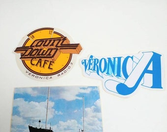 Vintage Radio Veronica stickers