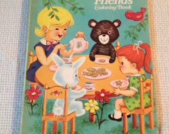 "Unused ""Springtime Friends Coloring Book"" 1972"