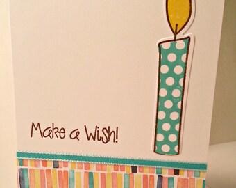 Make a Wish Candle Birthday Card