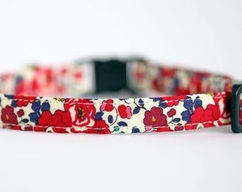 Liberty Betsy Ann fabric Cat Collar