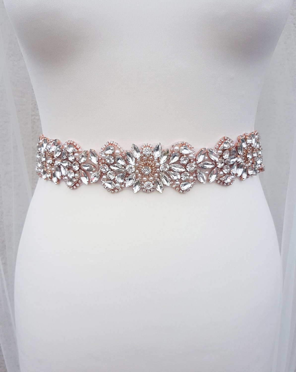 Rose gold belt rose gold bridal belt rose gold rose gold