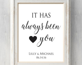It has always been you Print. Valentine. Names. Card. Anniversary Gift. Wedding Gift. All Prints BUY 2 GET 1 FREE!