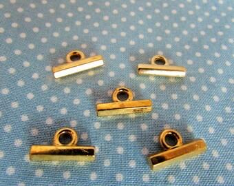 Metal T Bar Button Gold