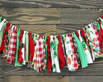 READY TO SHIP Hungry Caterpillar Fabric Garland. Highchair banner, Hungry Caterpillar nursery, Hungry Caterpillar Party, baby shower decor