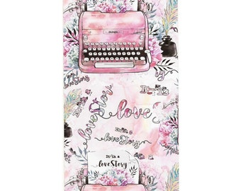 "TN regular dashboard/todaymarker ""typewriters, boho girl and cupido"""