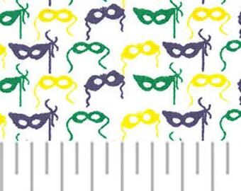 "Mardi Gras Mask Fabric 60"""