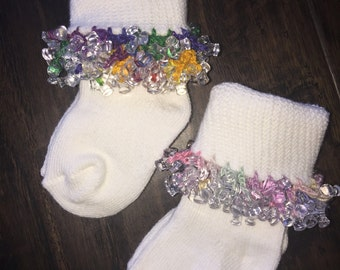 Two or more pairs of  Infant Beaded Socks