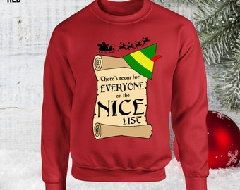 SANTA I KNOW HIM Ugly Christmas Sweater Buddy the Elf