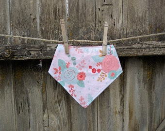 Baby and Toddler Bibdana Bib, Drooler Bib Baby Girl Floral
