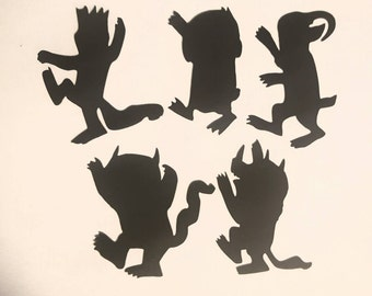 Where the Wild Things are cut outs pick color and size 10 count