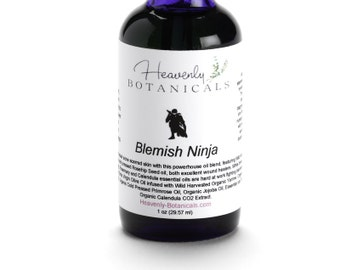 Organic Blemish Ninja Oil Serum, SAMPLE, Acne serum, pimple serum, Cystic acne, weeping acne, acne scar oil, acne spot treatment