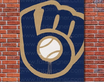 Milwaukee Brewers Graffiti- Art Print - Perfect for Mancave