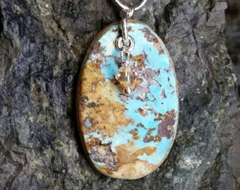 Gentle Cerillos Turquoise & Sterling Silver Pendant