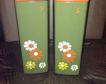 Vintage Simpsons Sears Flour and Sugar Canisters