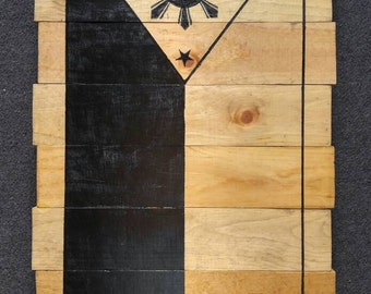 Handmade Wooden Philippines Flag Painting
