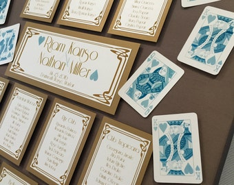 Casino | Playing Cards | Wedding Table/Seating Plan Canvas