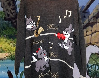 Embroidered Aristocrats vintage Disney jumper