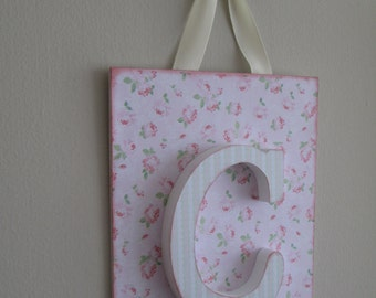 Wooden letters decorated child table decoration to hang