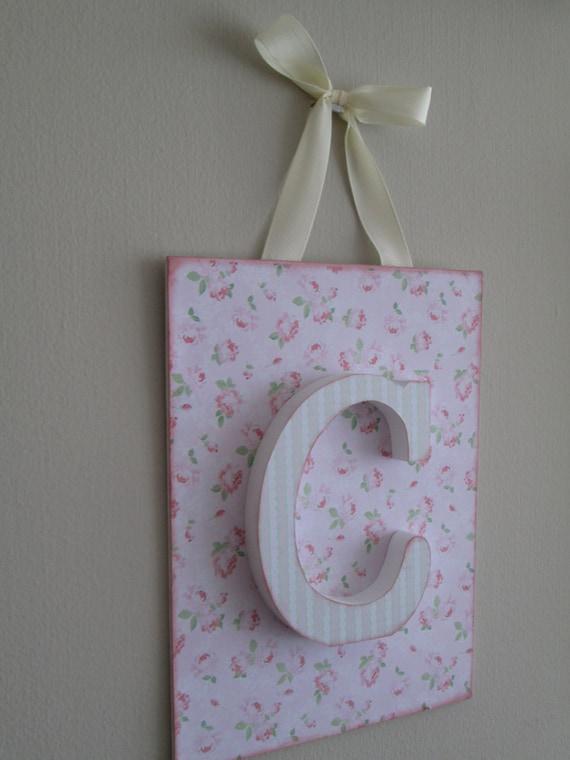Letras de madera decoradas decoracion infantil con tabla para - Letras decoradas infantiles ...