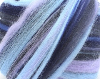 Merino Wool Combed Top/Roving by the Pound - Moonlight