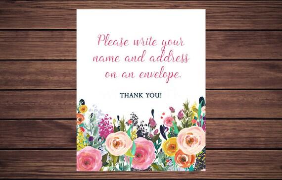 Address An Envelope Sign, Floral Address An Envelope