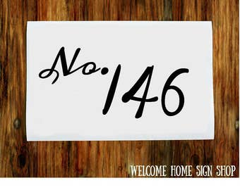 House Numbers Vinyl Decal