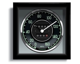 Personalized Mercedes-Benz 300 SL Speedometer Wall Clock