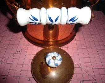 Vintage Copper and Ceramic Teapot Kettle