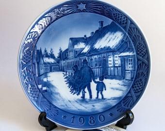 Royal Copenhagen Christmas Plate 1980