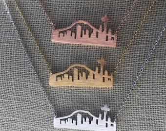 Seattle Skyline Necklace