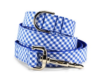 Royal Gingham Dog Leash, Blue Dog Leash, Gingham Dog Leash, Preppy Dog Leash, Wedding Dog Leash, Royal Blue Leash, Gingham Leash, Dog Lead