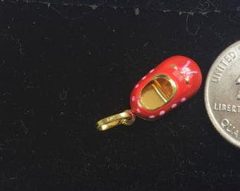 14k Gold Ancient Chinese Shoe Charm or Pendant