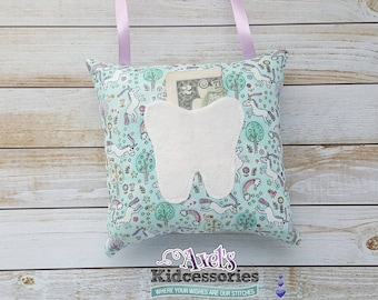 Tooth Fairy Pillow - Unicorn Tooth Fairy Pillow - Unicorn Tooth Fairy Pouch - Tooth Fairy Pocket