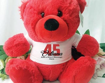 Personalised Birthday Bear - Red