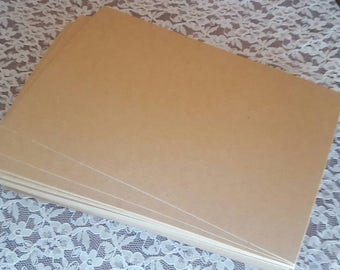"5""x7"" Kraft Chipboard Sheets, Headband Display Cards, Shipping Pads, High Quality Perfect Color, ECO Recycled Paper, More Sizes Available"