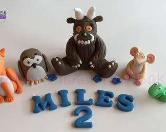 Gruffalo Mouse Snake Fox Owl Edible Cake Topper Sugar Fondant Decoration