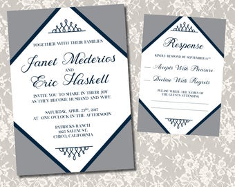 Set of 20 Wedding Invitations