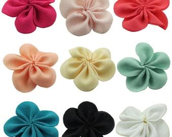 100pcs 40mm Small Chiffon 5 Petal Craft Flower