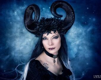 Horns Gothic Goth Headpiece