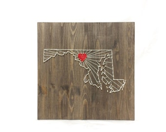 Maryland   State String Art Wall Art Maryland Home Decor