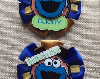 Cookie Monster Inspired - Birthday Pin