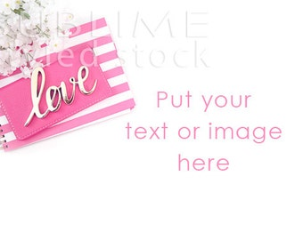 Valentine Styled Photo / Valentine's Day / Styled Stock / Pink / Digital Background / Social Media Images /  Mock up / StockStyle-807