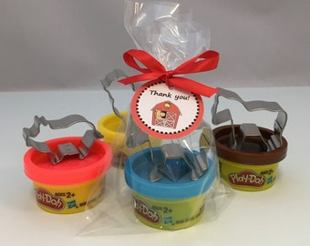 Barnyard Party Favor: Farm Party Favor, Playdoh and Animal Shape Cutters