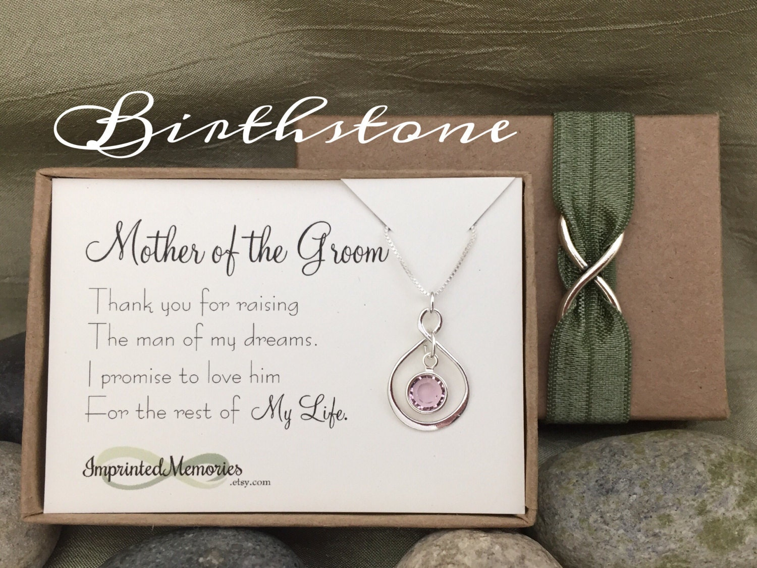 Mother Of The Groom Gift: Mother Of The GROOM Gift Necklace Sterling Silver Crystal