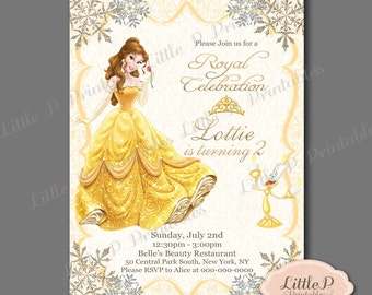 Belle invitation belle birthday invitation belle party belle invitation belle birthday invitation belle party invitation princess birthday invitation princess filmwisefo