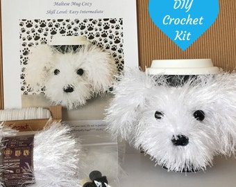 Maltese Dog Knitting Pattern : Mothers Day Crochet Kits & How To Kits Etsy Studio