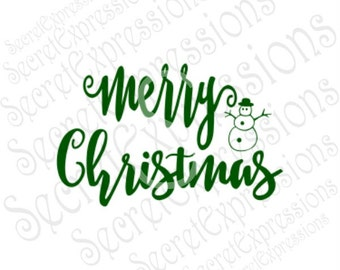 Merry Christmas Svg, Christmas Svg, Snowman Svg, Svg File, Digital Cutting File, eps, png, JPEG, DXF, SVG Cricut, Svg Silhouette, Print File