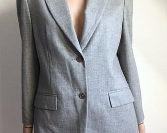 Veste SISLEY grise pure laine vierge taille 38 - uk 10 - us 6