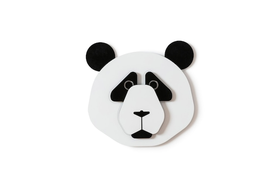 Panda bear head decor kids wall decor nursery wall decor for Panda bear decor