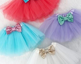 Spring Colors Tutus with Sequin Bow. You Choose Colors and Size.